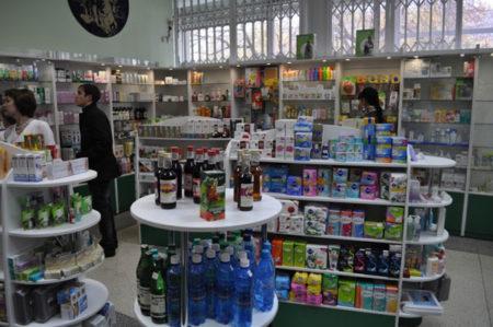 Оформление торгового зала аптеки и магазина